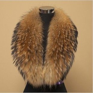 2014 Winter 100% Real Raccoon Fur Collar, Natural Big Raccoon Collar Scarf Be-1411 Free Shipping