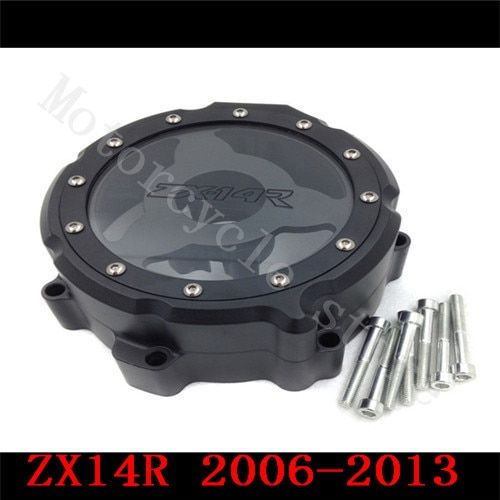 For Kawasaki ZX14R ZX-14R ZZR1400 2006 2007 2008 2009 2010 2011-2014 Motorcycle Engine Stator cover see through Black Left side