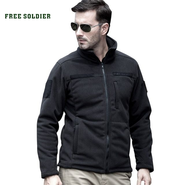 FREE SOLDIER Outdoor Sports Camping Hiking Jackets Men's Clothing Tactical Fleece Jacket Warm Fleece Coat For Men