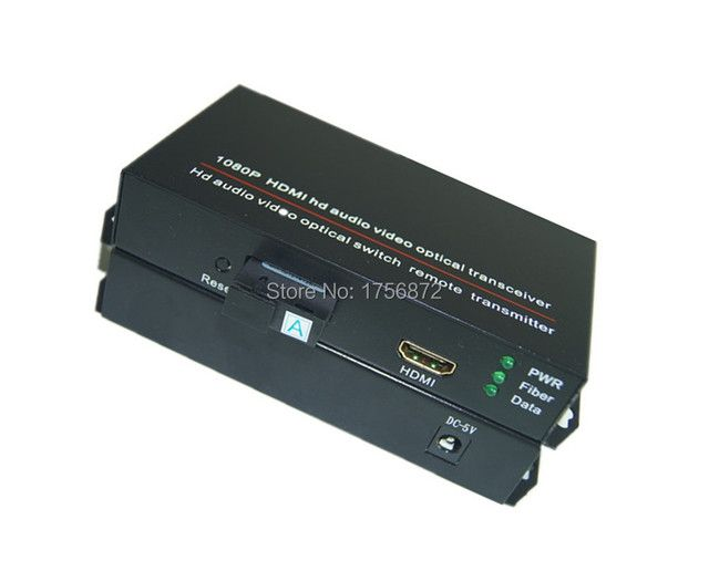 1 pair hdmi audio and video Optical Fiber Transceiver hdmi hdmi switch optical converter 1080P Single Fiber 20 KM SC