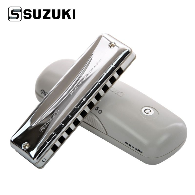 Suzuki MR-350 Promaster Deluxe 10-Hole Diatonic Harmonica / Blues Harp Professional Harmonica, Key of C [Free shipping]