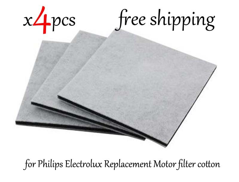 4Pcs/Lot Vacuum Cleaner HEPA Filter for Philips Electrolux Replacement Motor filter cotton filter wind air inlet outlet fIlter