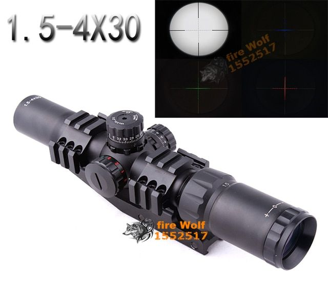 Mil-Dot Tactical Recon Monocular Telescope Scope 1.5-4X30 Waterproof Picatinny 21mm mount replacement parts riflescopes
