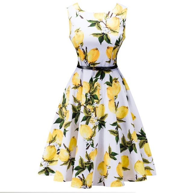 2017 vintage women dress fashion belt decoration round neck party Summer dresses sleeveless bodycon print dress plus size LLD08