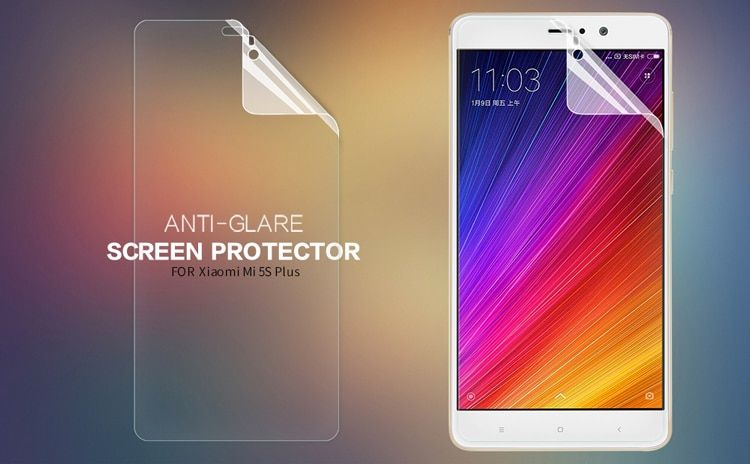 Original NILLKIN Matte Scratch-resistant Protective Film For Xiaomi Mi5S Plus Screen protector,For Xiaomi Mi5S Plus case