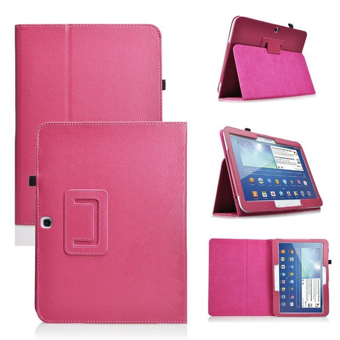 High Quality PU Leather Cover for Samsung Galaxy Tab 3 10.1 P5200 Case Cover for Samsung Galaxy Tab 3 10.1  P5200 Case