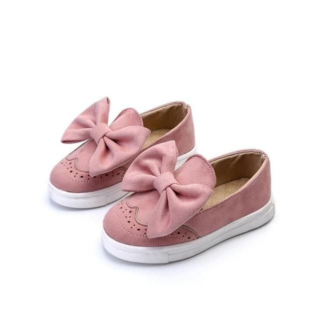 Kids Girls Spring Shoes With Bow Fashion Sneaker Children Baby Girl Casual Sport Shoes princess Cute Shoes in stock