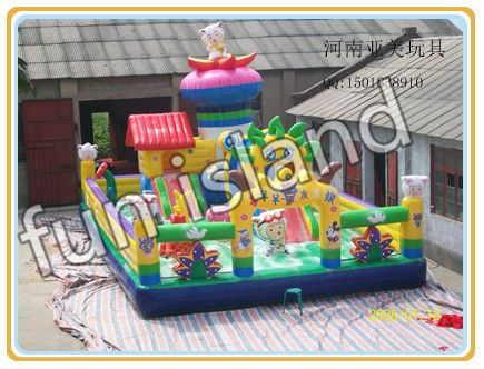 Large amusement park games factory bouncy castles inflatables china prices