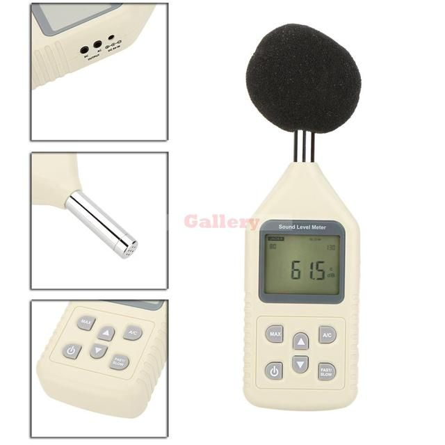 Gm1358 Lcd Digital Sound Level Meter Noise Meter Db Decibel Meter Measuring Range 30-130db