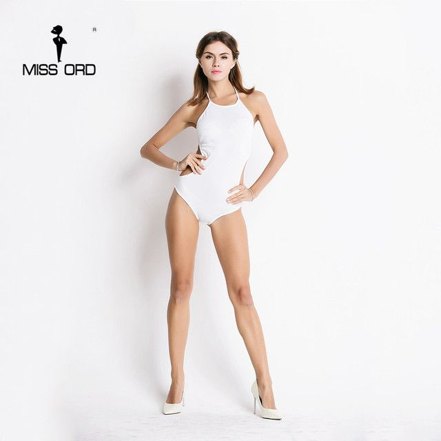 Free Shipping Missord 2018 Sexy tight O-neck halter  Swimwears FT7073