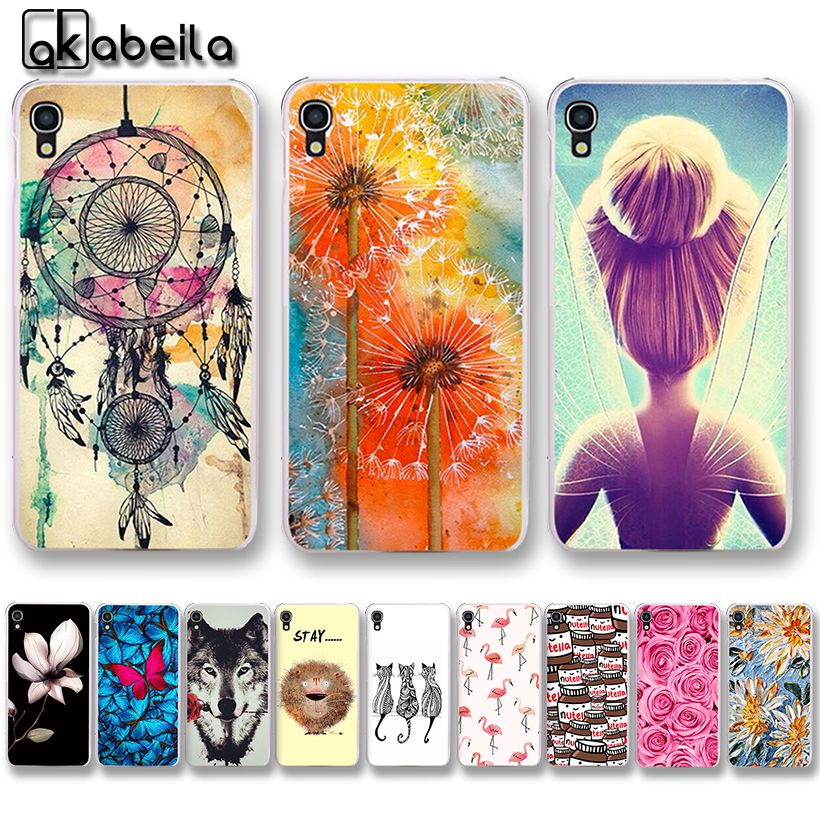 AKABEILA Soft TPU  Bumper Phone Cases For Alcatel OneTouch Idol 3 4.7 inch 6039 6039A 6039K 6039Y 6039J Covers Nutella Bags