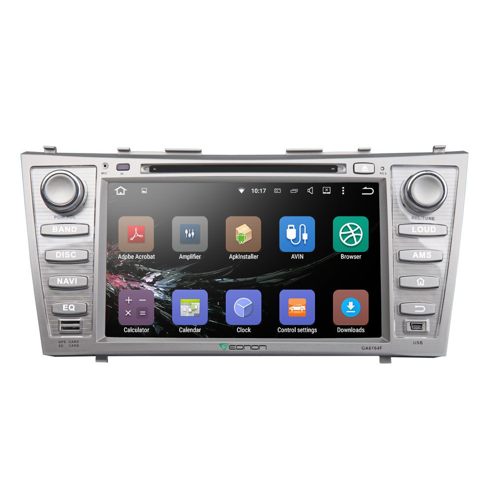 "8"" Quad Core Android 5.1.1 OS Special Car DVD for Toyota Camry 2007-2011 & Toyota Aurion 2006-2011 with Screen Mirroring Support"