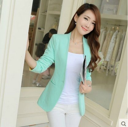 2017 Spring Women Slim Blazer Coat Fashion Casual Jacket Long Sleeve One Button Suit Ladies Blazers Work Wear Coat