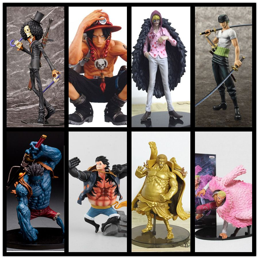 One Piece Action Figures Ace Nightmare Luffy Doflamingo Zoro Corazon Brook Sengoku Figure One Piece Anime Onepiece-Action-Figure