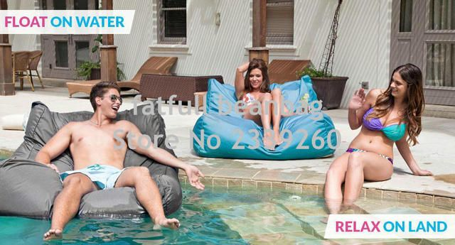 Cover only No Filler-Relax on land,float on water outdoor 2 function bean bag chair, outdoor furniture beanbag sofa seat