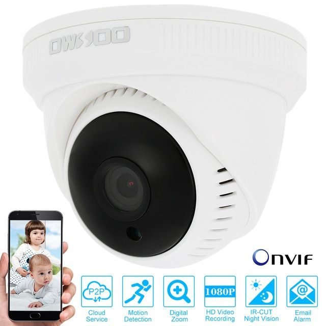 "OWSOO HD 1080P IP Camera Wired Network Camera 1/2.7"" CMOS 24PCS LEDs Night View 2.0MP Indoor CCTV Surveillance Security Camera"