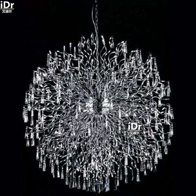 gold Chandeliers Modern luxury hall corridor lamp crystal lamp iron lamp elegant hotel lamp 145cm W x 145cm H