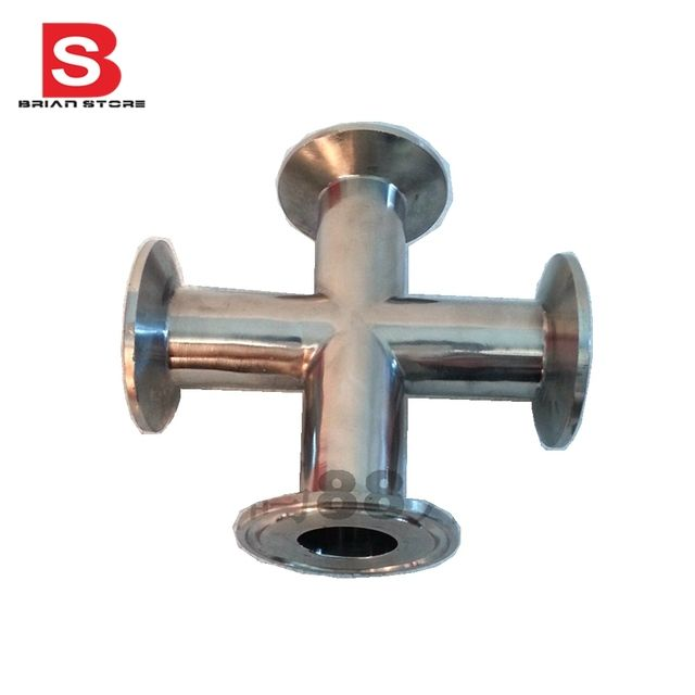 45MM Sanitary Tri Clamp 4 Way Cross Stainless steel  304