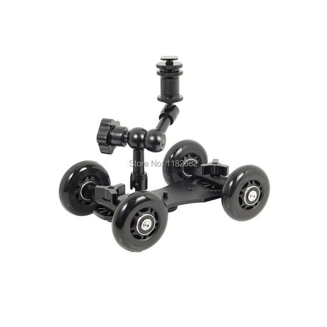"Exempt postage + tracking number 2in1 1 set  7""Magic Arm + black Dolly Skater Truck Car Camera Truck Car For all DSLR camera"