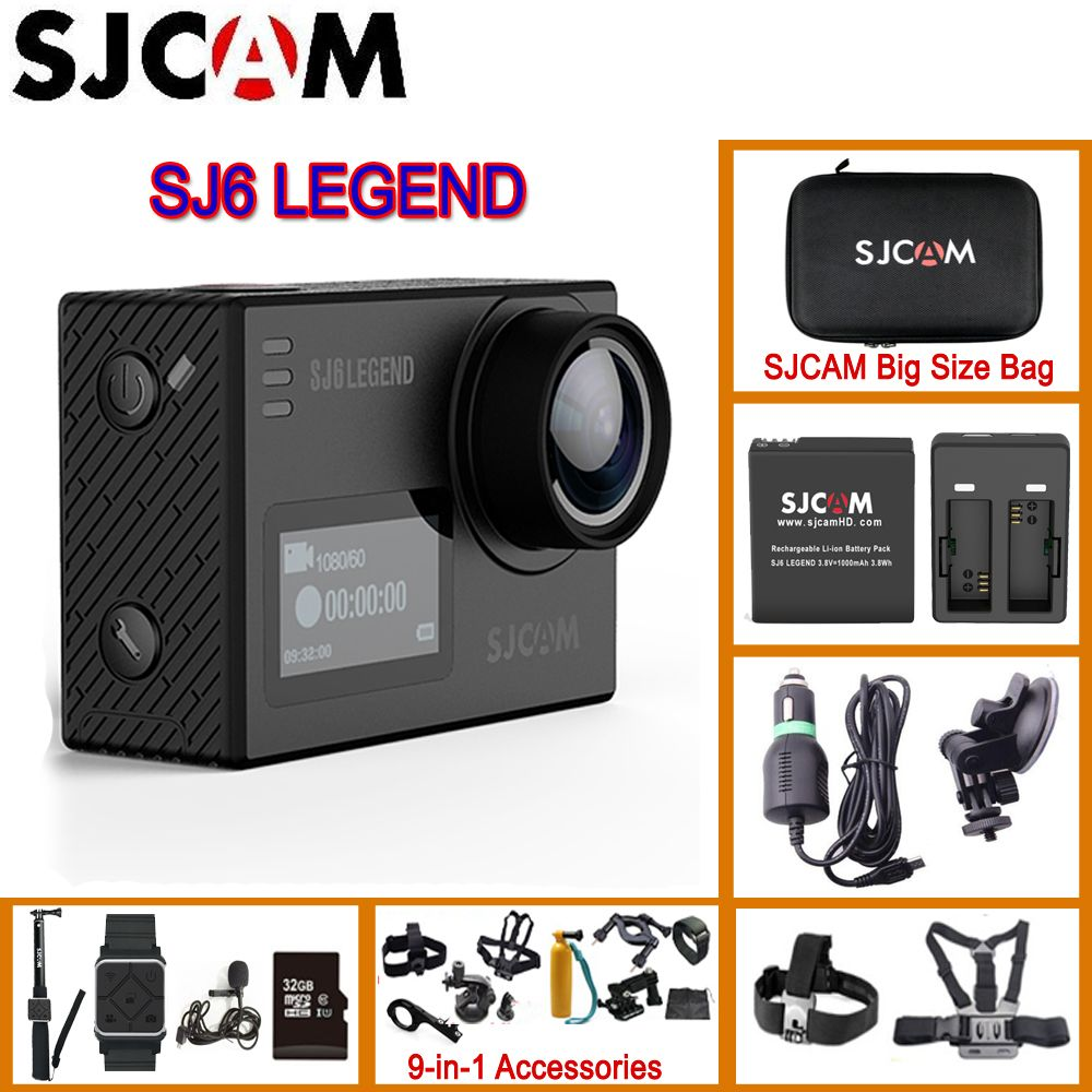 SJCAM SJ6 Legend 2' Touch Screen Remote Action Helmet Sport DV Camera Waterproof 4K 24FPS NTK96660 RAW Dual Screens Original SJ6