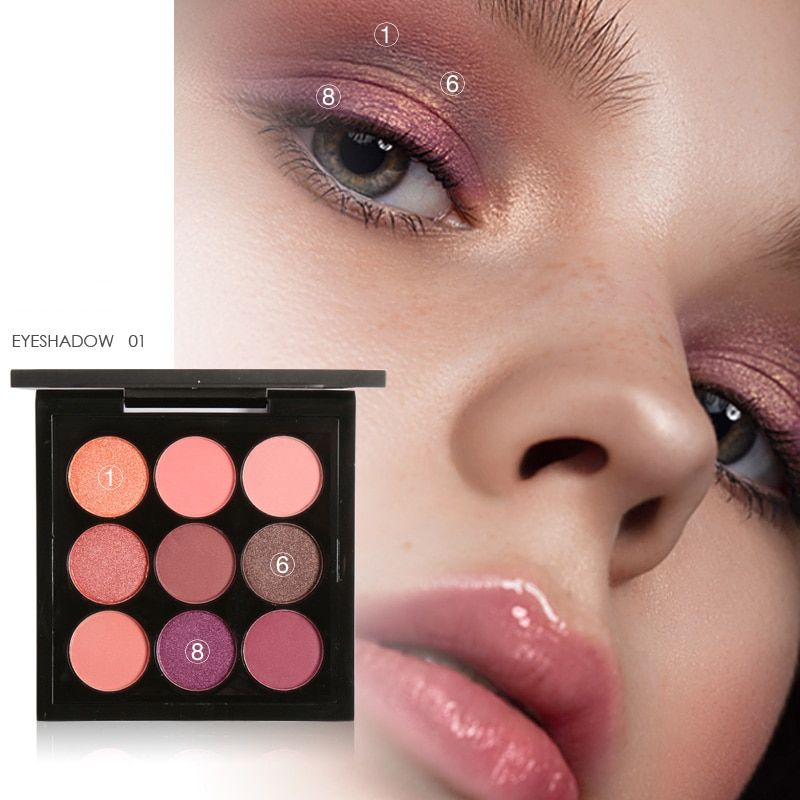 Focallure New Makeup Palette 9 Colors Eyeshadow Warm Cool Colors Eye shadow Palette Maquiagem cosmetics Gift kit set