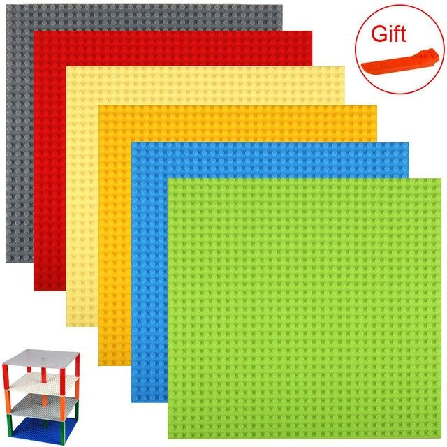 "Double Side Base plate for Small Bricks Baseplates 32*32 Dots 10""*10"" DIY Building Blocks Compatible with Legoed blocks"