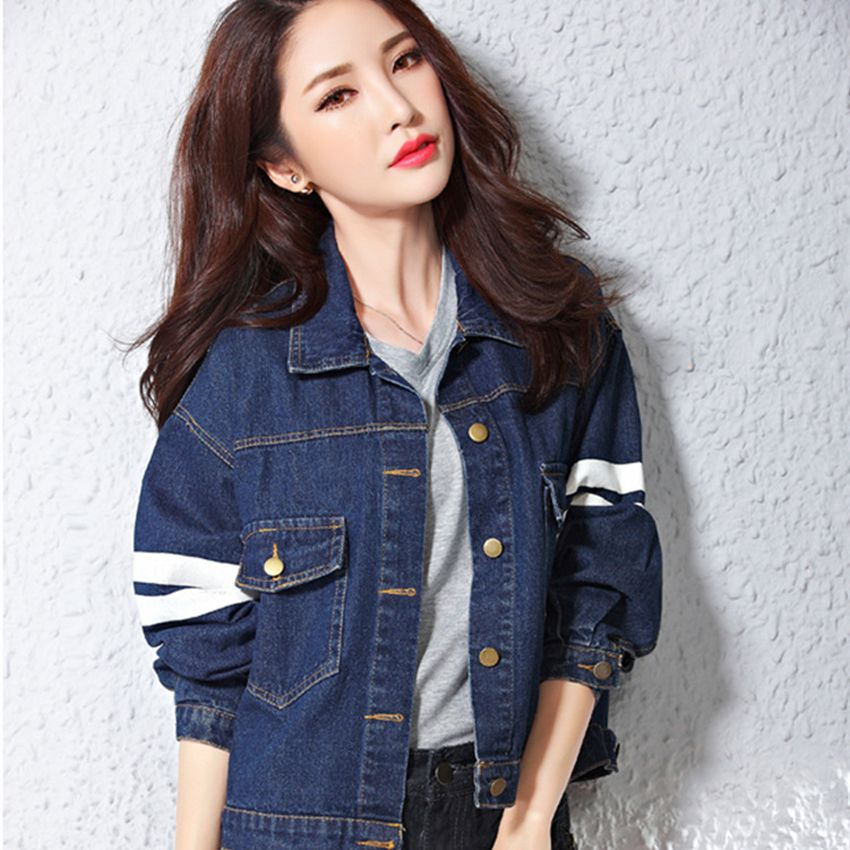 Autumn Women Jacket And Coat Long Sleeve Demin Jackets Female Casual Slim Chaquetas Mujer Jeans Jackets For Women Clothing 2015