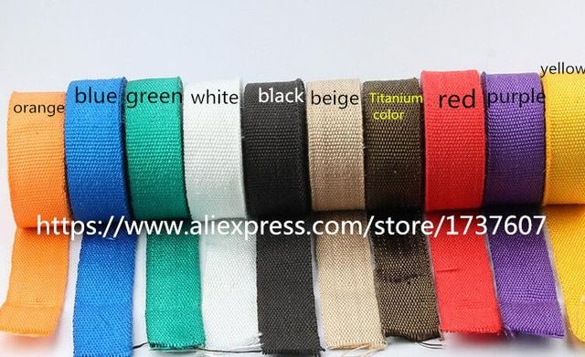1pcs motorcycle protective 10M  Motorcycles Exhaust Header Pipe Wrap Heat Manifold Insulation Cloth Roll With 7 color optional