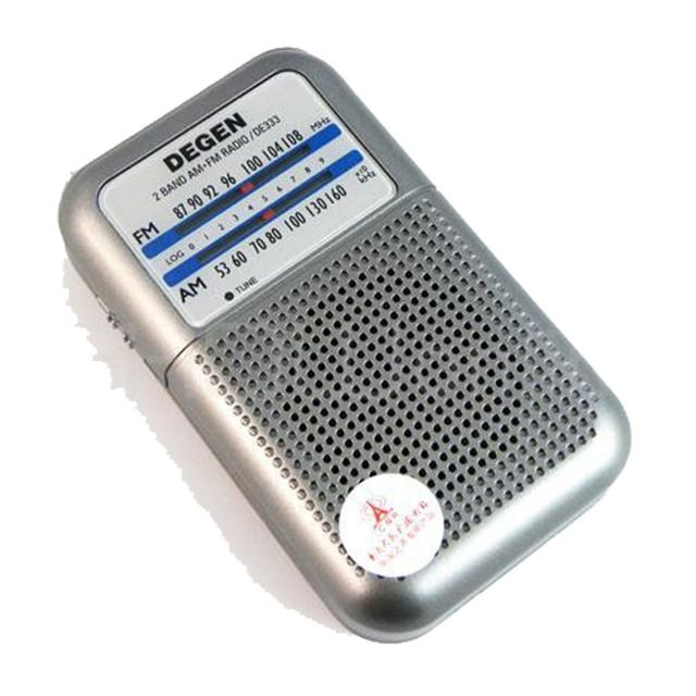 Mini DEGEN DE333 FM AM Radio Receiver Pocket Radio Portable 2 Band Radio Multiband A0796A