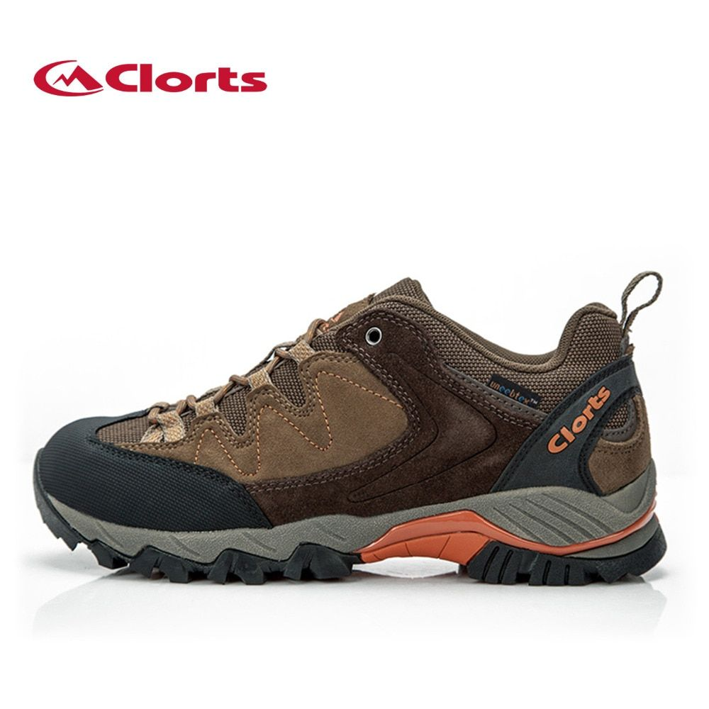 Clorts Men Mountain Shoes for Outdoor Waterproof Non-slip Climbing Hiking Shoes Breathable Sport Shoes HKL-806F/G