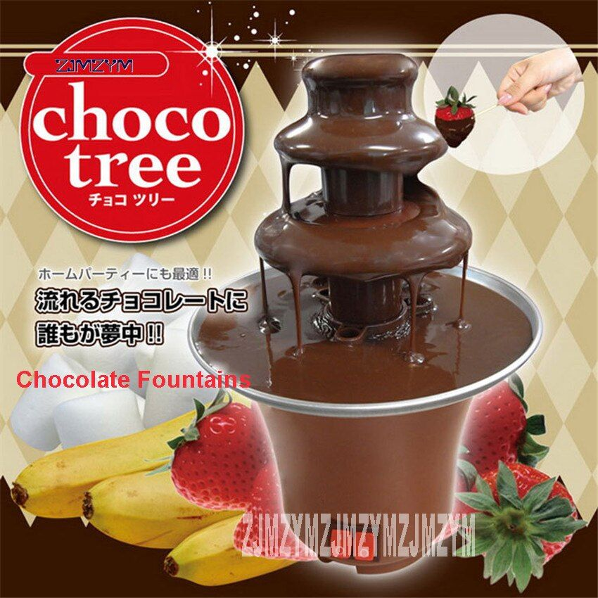 220V/50hz New Arrival 3-tier Mini Chocolate Fondue Chocolate Fountain For Home Use Machine 3-tier diameter of 8.5cm/6cm/3.5cm