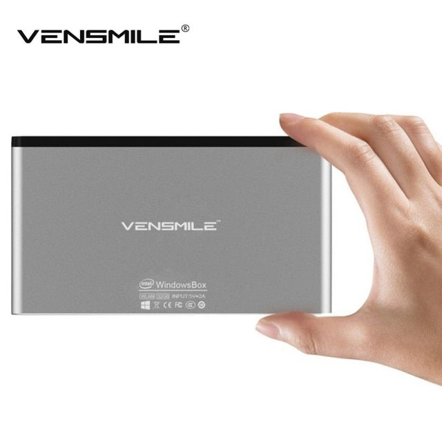 Vensmile Media Player IPC002 Mini PC Intel Z3735F Quad Core Windows 10 2GB RAM 32GB ROM Ultra-Thin TV Box Bluetooth 4.0 Wifi