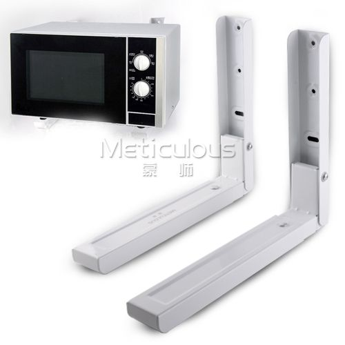 Scalable microwave stand thick kitchen shelf bracket wall