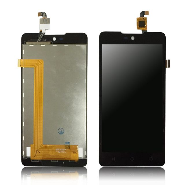 2pcs Black For Wiko Rainbow Lite 4G LCD with Touch Screen Digitizer Assembly Free Shipping + Tools