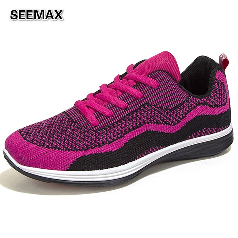 Running Shoes Men Women 2016 Sneaker Sport Run Trainer Shoes Man Woman Fly Weave Light Mesh Lovers Breathable Comfortable Shoes