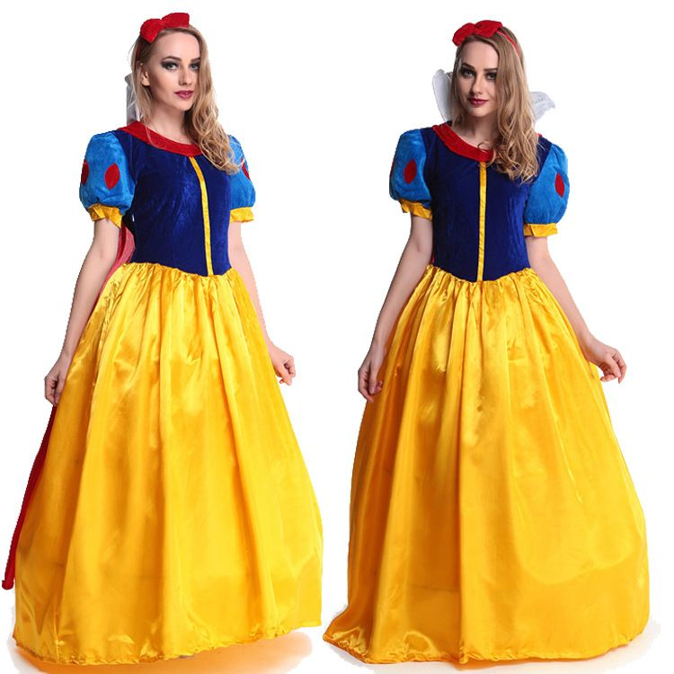Women fantasia Princess Snow White Cosplay Costume Carnival Party Dress Women Adult Snow White Halloween Costume