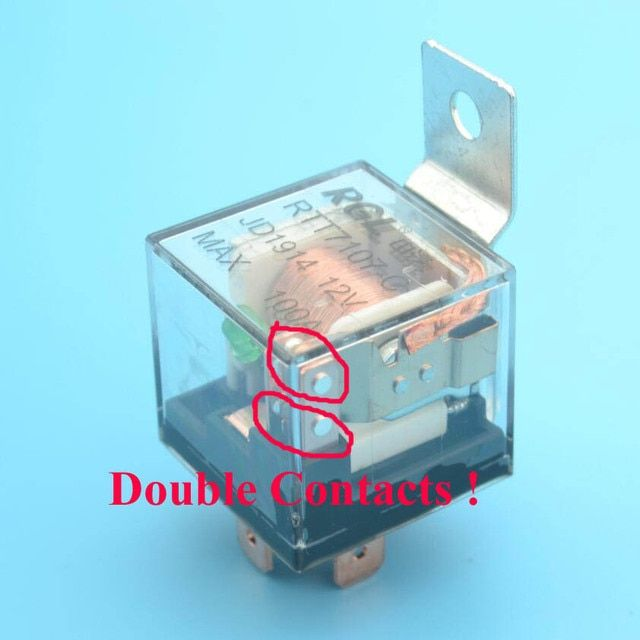 Famous RGL ALL BRASS PINS Max 100A heavy duty double contacts ,5 pins silver contacts auto relay 12VDC