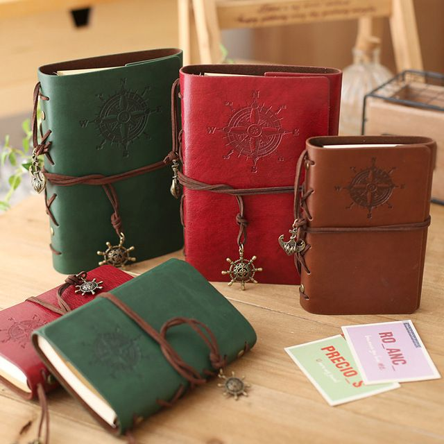 2017 Vintage Pirate A5 Diary Notebook Agenda With Faux Leather Cover Filofax Note Book For School Korean Stationery Or Traveler