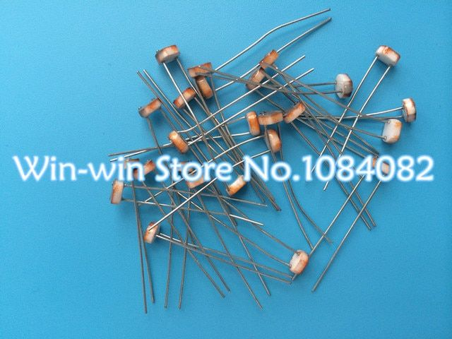 20pcs 5528 Light Dependent Resistor LDR 5MM Photoresistor wholesale and retail Photoconductive resistance LDR5528