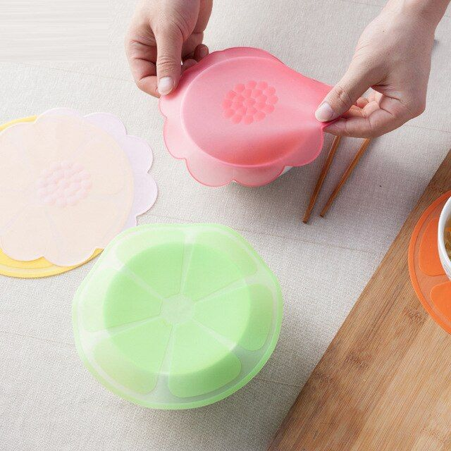 1PCS Silicone Lid Bowl Reusable Stretch Cover Food Seal Container Refrigerator Preservative Film Baking Cooking Kitchen &8003
