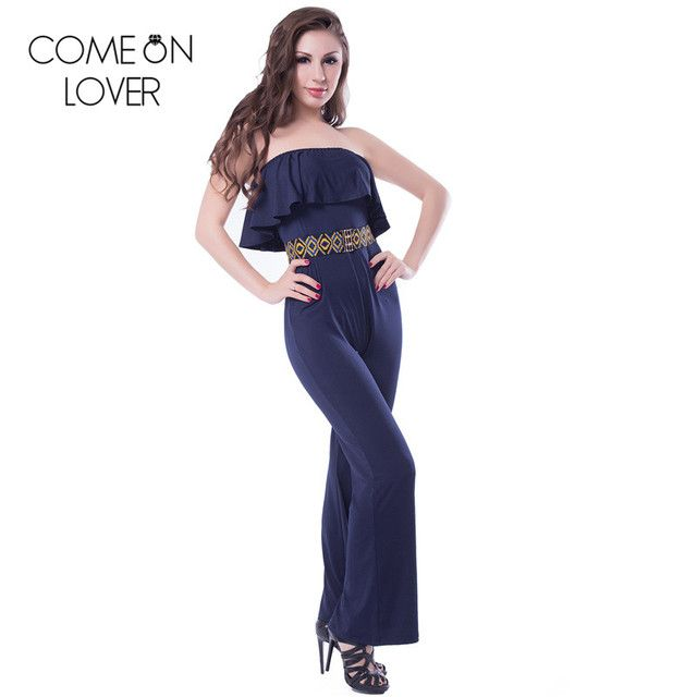 RE7983 Comeonlover New fashion backless women sexy body hot selling off shoulder women bodysuit special design fashion jumpsuits