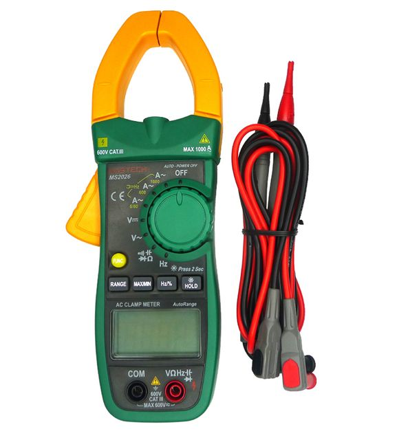 MS2026 Digital AC Current Clamp Meter Auto Range resistance / capacitance / frequency Clamp diameter: 40mm