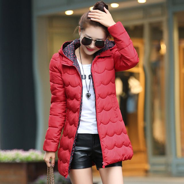 New 2016 Casacos Feminino Casual Fashion Winter Jacket Women Plus Size Slim Outdoors Hooded Women's White Jacket Coat dy0066