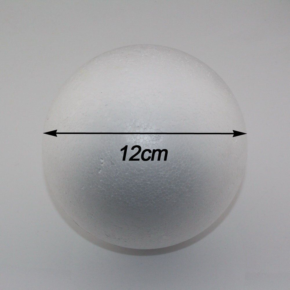 CCINEE wholesale 12cm natural white styrofoam round balls Craft ball foam ball diy handmade painted ball(12pcs/lot)