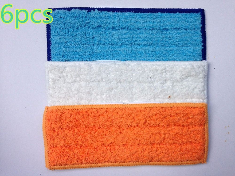 6pcs robot cleaner brushes spare parts 2pcs Wet Pad Mop +2pcsDamp Pad Mop + 2pcs Dry Pad Mop for iRobot Braava Jet 240 241