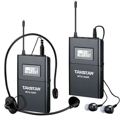 Customize Takstar WTG-500 UHF PLL Wireless tour guide system voice device teaching earphones Transmitter+N Receiver+MIC+earphone