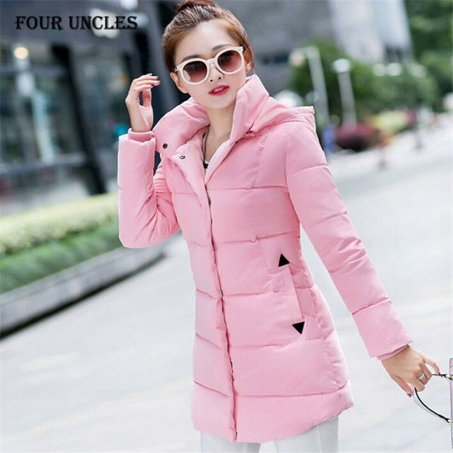 Wadded Clothing Female 2016 New Women's Winter Jacket Down Cotton Jacket Slim Parkas Ladies Coats Plus Size M-XXL,MM0070