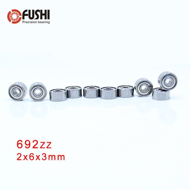 692ZZ ABEC-1 (10PCS)  2x6x3mm  Miniature Ball Bearings 619/2ZZ