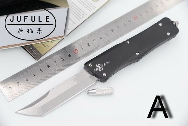 JUFULE Newest 2017 Made Combat Troodon D2 blade aluminum handle camping hunting survival outdoor Utility EDC tool kitchen knife