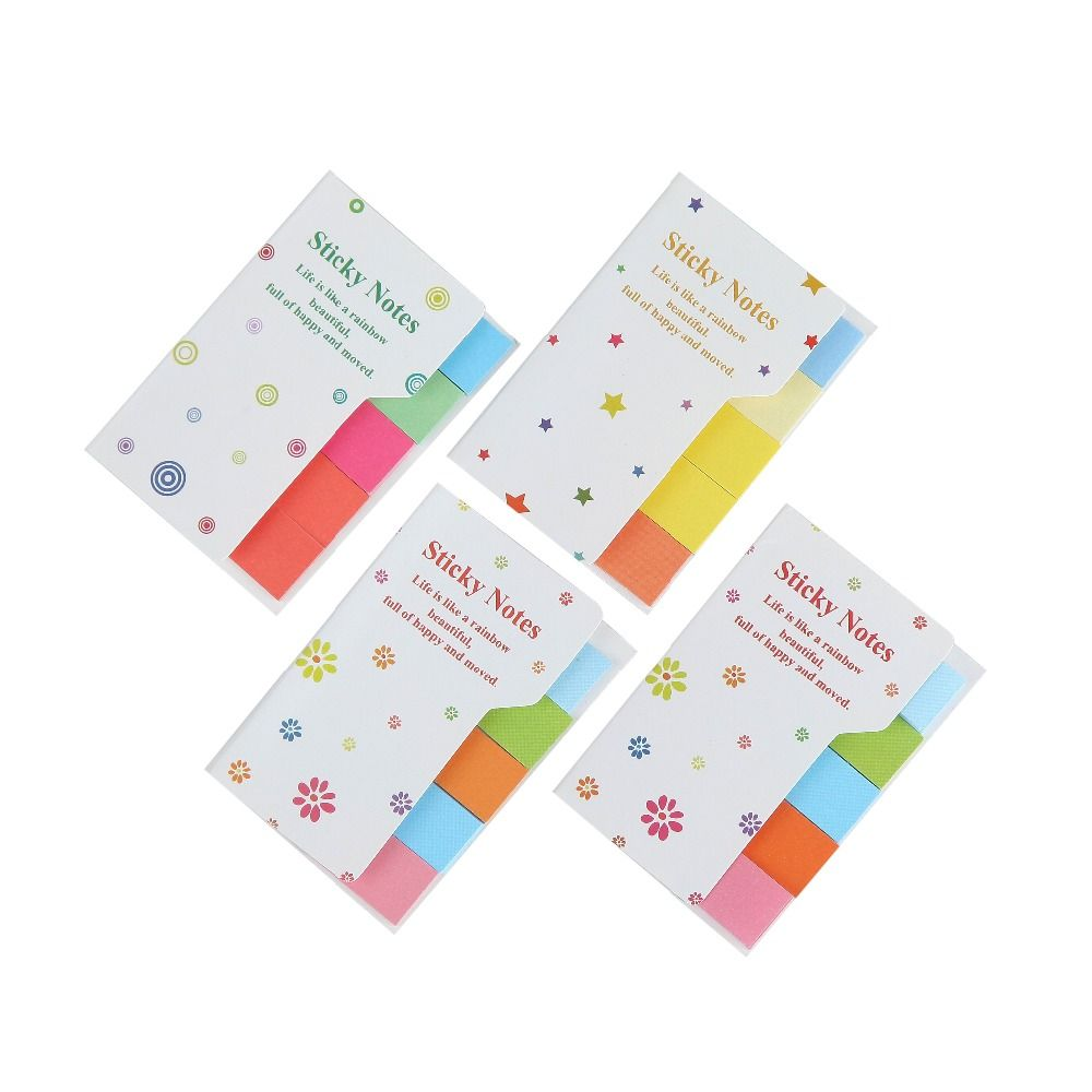Cute Rainbow Colored Sticky Notes  Memo Pads N Times Sticker Office material school supplies